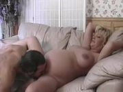 Man licks out pregnant blonde milf
