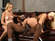 Pregnant blond & teen interracial fuck creampie